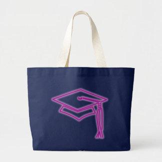 ネオン卒業生の帽子の紫色のバッグ ラージトートバッグ