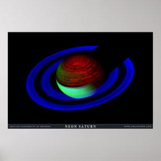 ネオン土星 ポスター