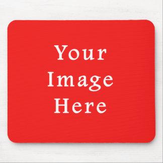 ネオン明るい赤い色の傾向のブランクのテンプレート マウスパッド