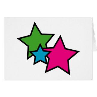 ネオン星の挨拶状 カード