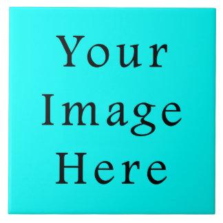 ネオン水の青く明るいターコイズ色の傾向のブランク タイル