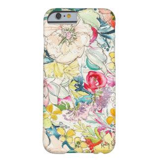 ネオン水彩画の花のiPhone6ケース Barely There iPhone 6 ケース