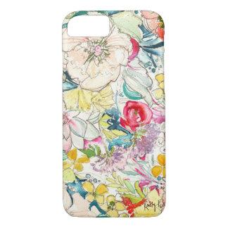 ネオン水彩画の花のiPhone 7の場合 iPhone 8/7ケース