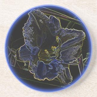 ネオン白熱ワスレグサの花 コースター
