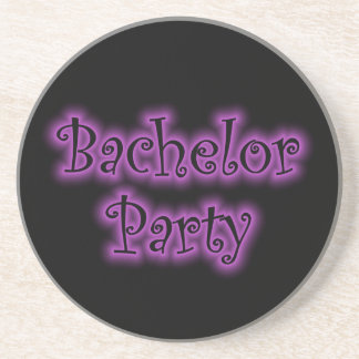 ネオン紫色のバチュラーパーティの砂岩コースター コースター