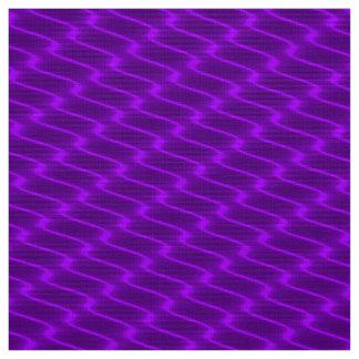 ネオン紫色の波状ライン生地パターン ファブリック