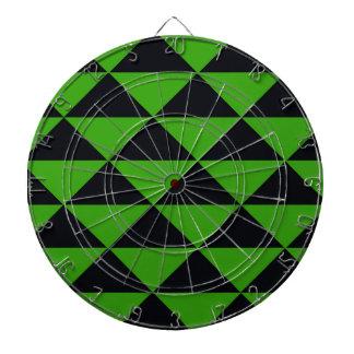 ネオン緑および黒い三角形 ダーツボード