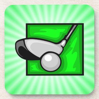 ネオン緑のゴルフ コースター