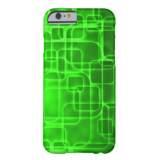 ネオン緑の原子力の抽象美術 iPhone 6 ベアリーゼアケース