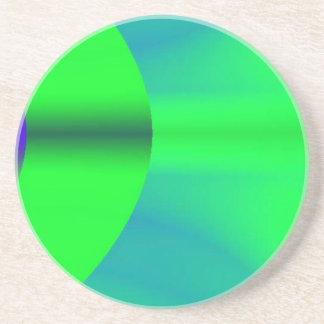 ネオン緑の影のコースター コースター