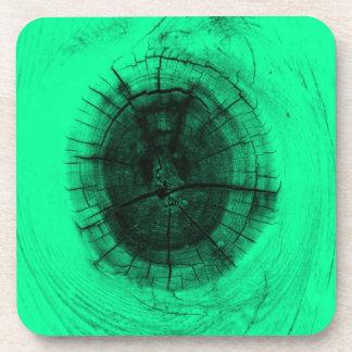 ネオン緑の木の結び目 コースター