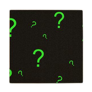 ネオン緑の疑門符 ウッドコースター