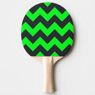 ネオン緑の黒いシェブロンパターン卓球ラケット 卓球ラケット