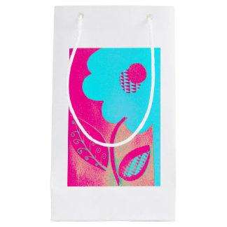 ネオン花のギフトバッグ スモールペーパーバッグ