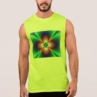 ネオン花のフラクタルの放射 袖なしシャツ