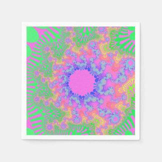 ネオン虹の日が差すことの紙ナプキン スタンダードカクテルナプキン