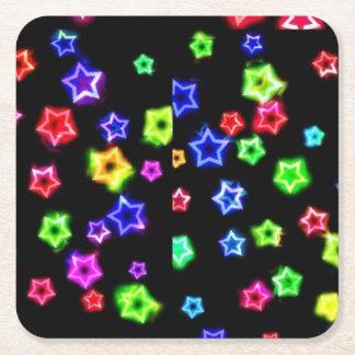 ネオン虹はコースターを主演します スクエアペーパーコースター