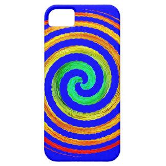 ネオン螺線形の青 iPhone SE/5/5s ケース