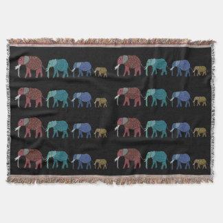 ネオン象のブランケット スローブランケット
