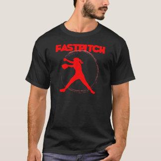 ネオン赤、fastpitch tシャツ