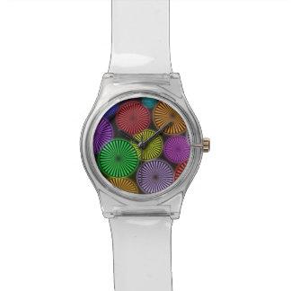ネオン車輪が付いている腕時計 腕時計