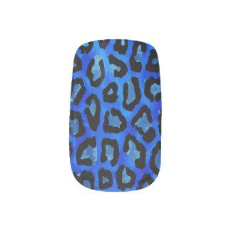 ネオン青いチータのベクトル ネイルアート