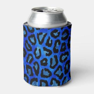 ネオン青いチータのベクトル 缶クーラー