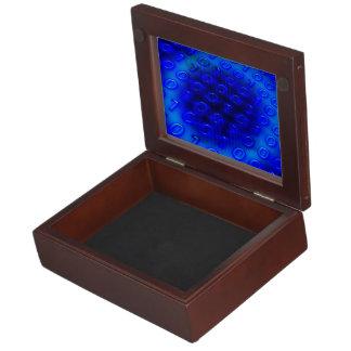 ネオン青いバイナリ抽象芸術 ジュエリーボックス