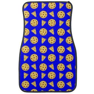 ネオン青いピザパターン カーマット