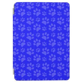 ネオン青い犬の足のプリントパターン iPad AIR カバー