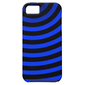 ネオン青い縞 iPhone SE/5/5s ケース