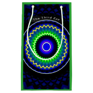 """ネオン青緑の回状の""""第3目""""の珍しいバッグ スモールペーパーバッグ"""