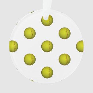 ネオン黄色いソフトボールパターン