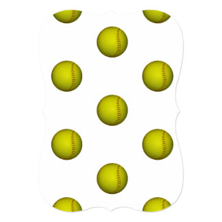 ネオン黄色いソフトボールパターン カード