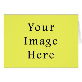 ネオン黄色い色の傾向のブランクのテンプレート カード