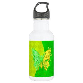 ネオン2は黄色および緑の蝶にある調子を与えます ウォーターボトル