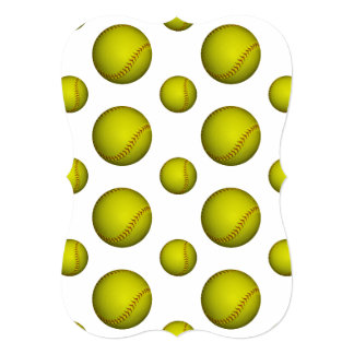 ネオン 黄色 ソフトボール パターン 招待状