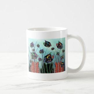 ネオンAngelfishの珊瑚礁 コーヒーマグカップ