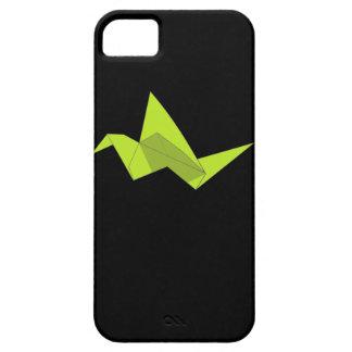 ネオンOrigami愛鳥の紙クレーン幾何学的なプリント iPhone SE/5/5s ケース
