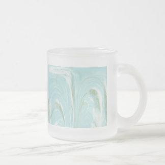ネコヤナギはガラスマグ-水--を抽出します フロストグラスマグカップ