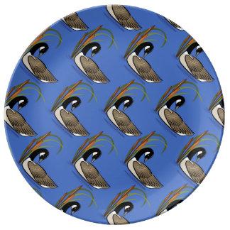 ネコヤナギパターンを持つカナダのガチョウ 磁器プレート