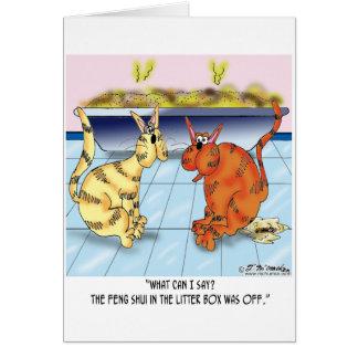 ネコ用のトイレの風水は消えています カード