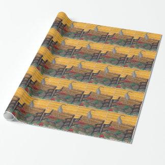 ネコ科のファンシーなデザイナー包装紙 ラッピングペーパー