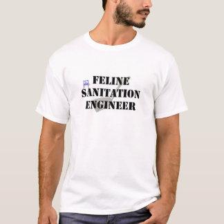 ネコ科の公衆衛生エンジニア Tシャツ
