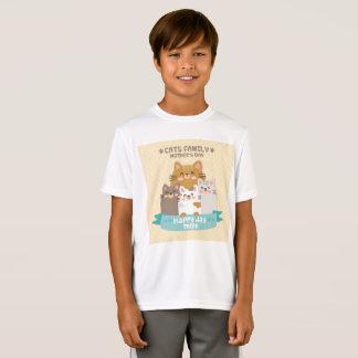 ネコ科の母の日幸せな日のお母さん Tシャツ