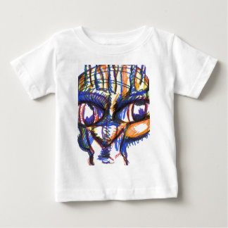 ネコ科強い精神 ベビーTシャツ