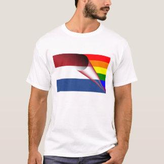 ネザーランドゲイプライドの虹の旗 Tシャツ