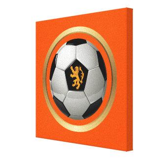 ネザーランドサッカーボール、オレンジのオランダのライオン キャンバスプリント