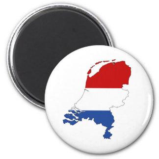 ネザーランド国旗の地図の形のオランダ マグネット