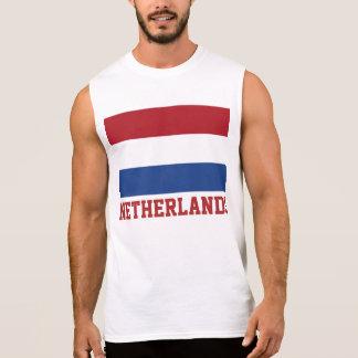 ネザーランド旗の文字 袖なしシャツ